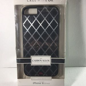 Other - Case-Mate iPhone 6-7-8 Plus Carbon Alloy